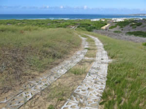 Permanent, yet flexible solution for jeep tracks
