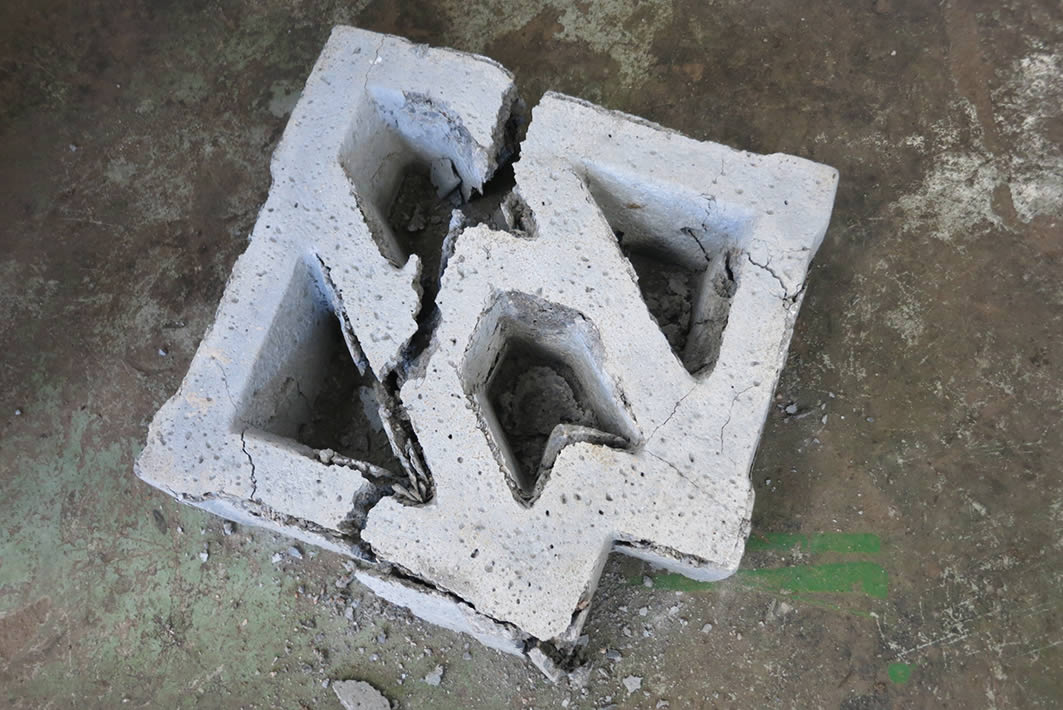 Crushed Block after testing