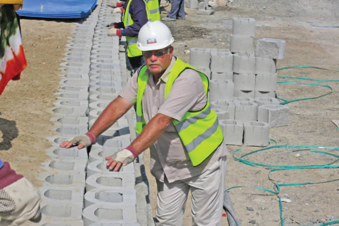 Bryan Newby on site in Dubai