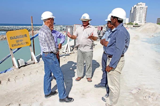 Bryan Newbie, Terraforce consultant, on a large job in Ajman, UAE.