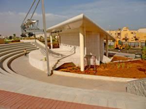Recreational arena with 4x4 Step blocks at Sirte Park, Libya