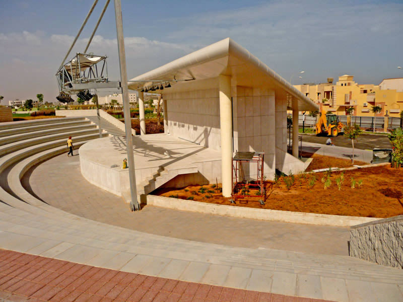 Recreational arena with 4x4 Step blocks at Sirte Park, Libya