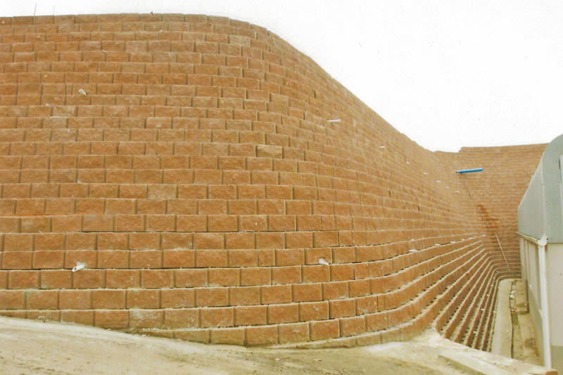 Rebuilt wall, Terraforce L11 blocks