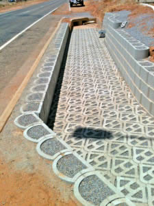 The Terracrete permeable pavers were filled with 10mm stone