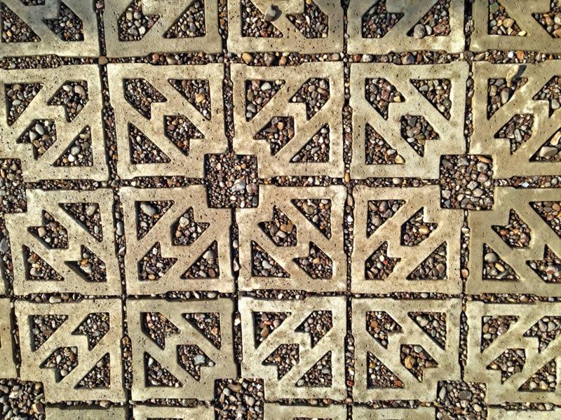 Terracrete pattern, gravel infill