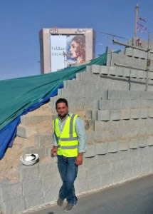 Sinan Awad of Al Alamal Construction on site