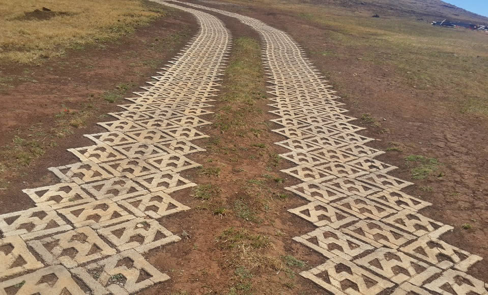 Cofimvaba Access Road with Terracrete hard lawn paver