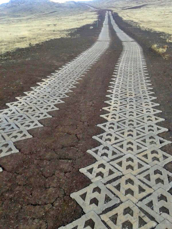 Cofimvaba Access Road with Terracrete hard lawn paver blocks