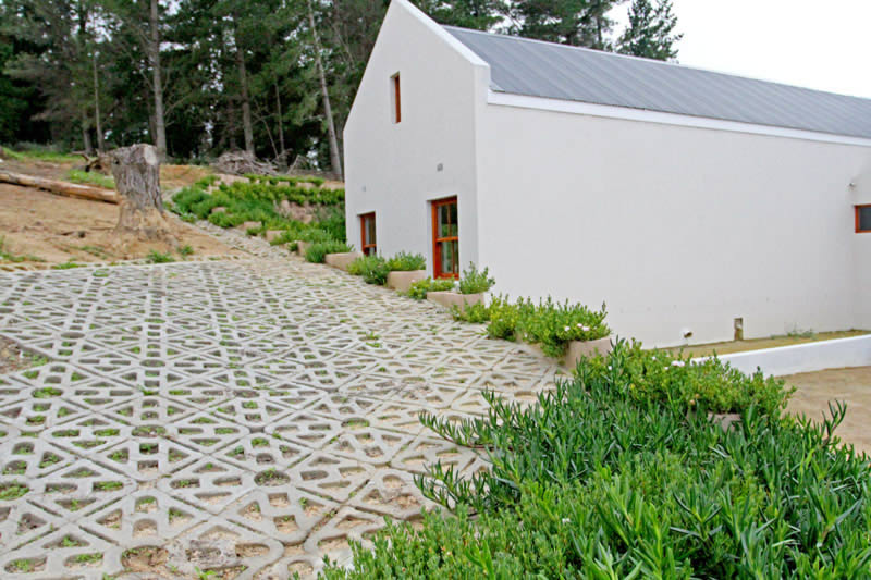 Terracrete hard lawn pavers for steep driveways