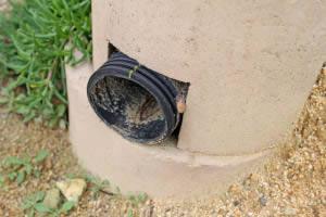 Vertical drains were installed