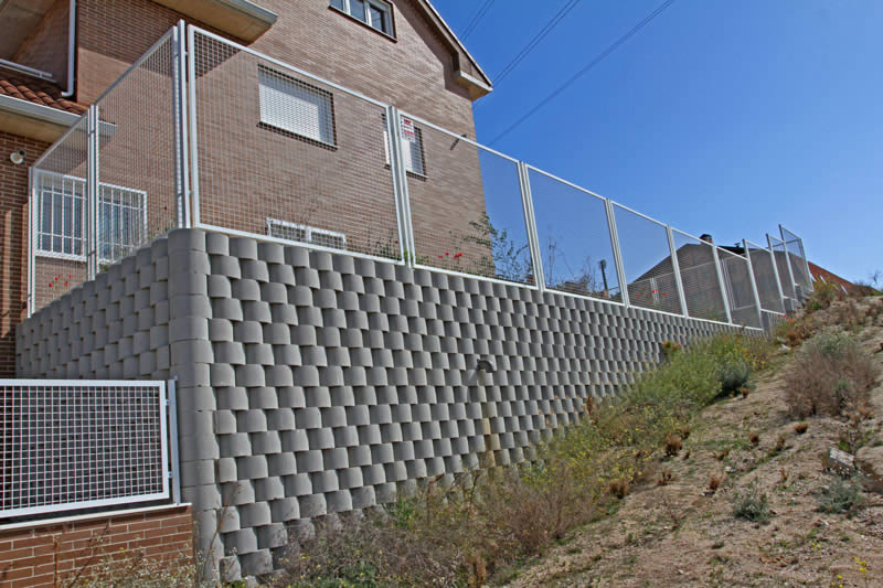 Boundary walls at a residential complex