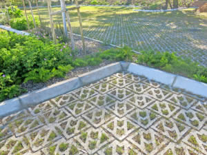 Parking areas paved with Terracrete permeable pavers