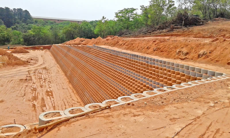 Terraforce wall at chicken farm in Swaziland