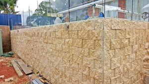 Terraforce wall to build up the pool area