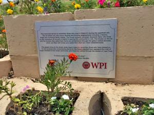 The dedication plaque to deceased street people
