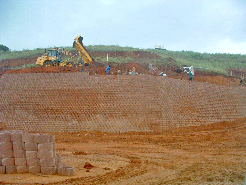 Highest Terraforce retaining wall in South AfricaHighest Terraforce retaining wall in South Africa
