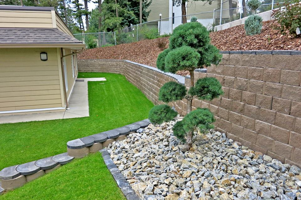 The Terraforce wall creates added space for building additions