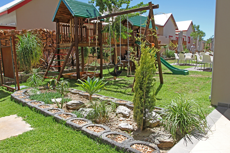 Landscaping for the development's outdoor facilities