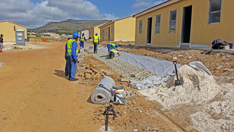 Terracrete permeable pavers, to manage water run-off during the rainy season