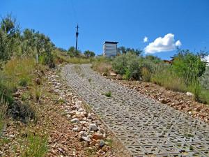 Terracrete access road to a private estate, Namibia