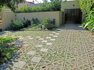 Terracrete blocks for a backyard and driveway