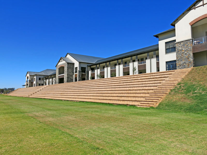 This seating is the largest of it's 4x4 Step block pavilion in South Africa