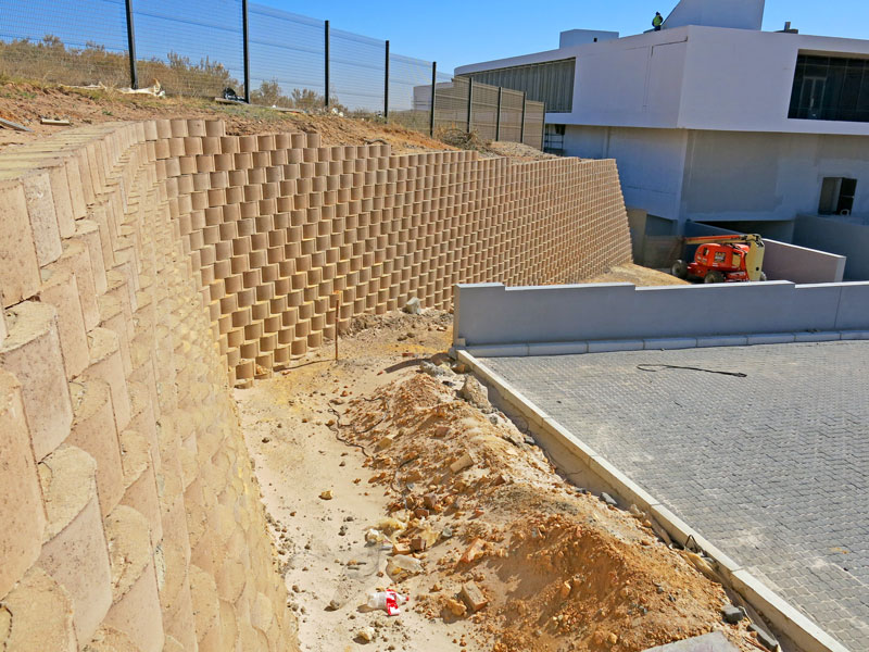 The block wall was installed by Terraforce approved installer, Dassenberg Retaining