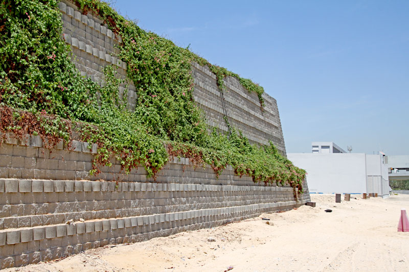Noise Barrier with plant growth in Dubai