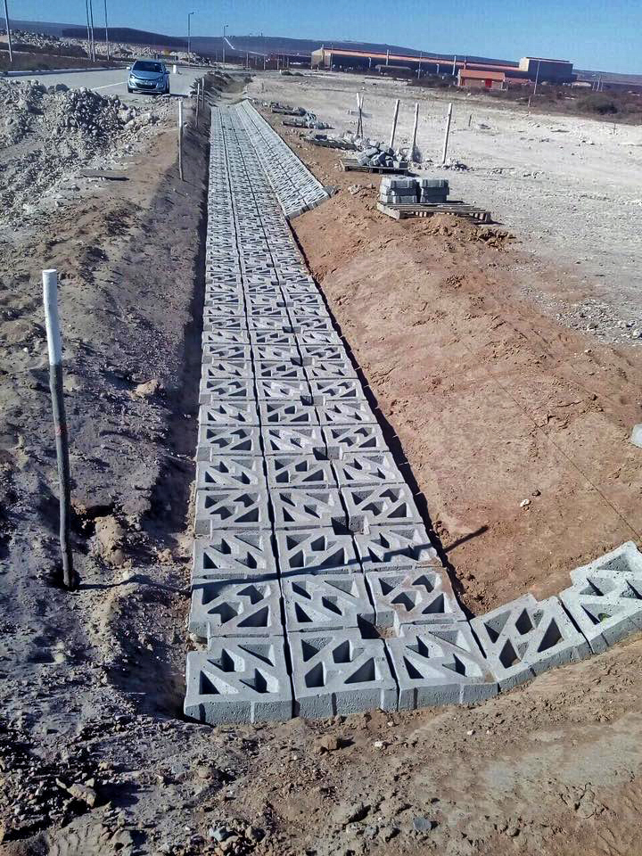 Terracrete hard lawn block installation at the IDZ, Saldanha bay