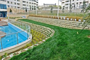 Terraforce retaining walls at a residential complex in Istanbul, Turkey