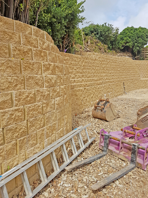 The completed wall, in Rock, UK