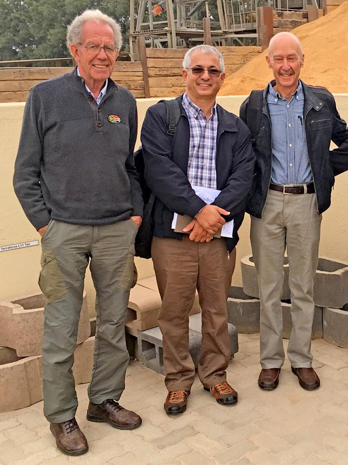 M. Ahmed Ali Amar visiting (middle) Klapmuts Concrete, Cape Town, South Africa