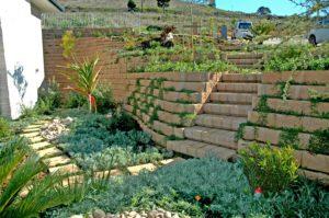 Beautifully landscaped Terraforce garden wall