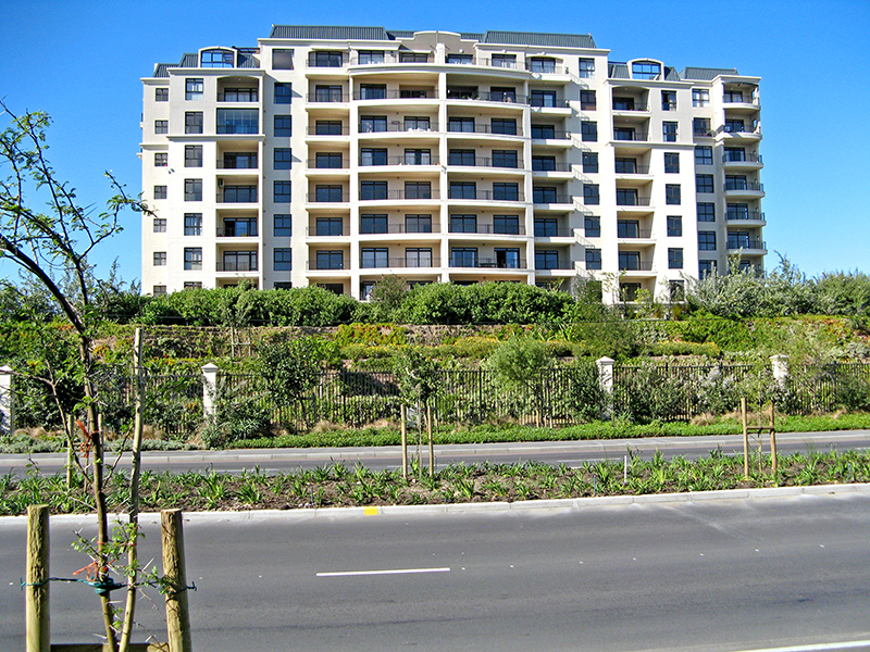 Essentially two things have happened here. The resident's legal rights have been met, and a sustainable, eco-friendly environment created, one that will last for many years. Instead of an unsightly grey concrete expanse, both motorist and resident are treated to a lush, green embankment.