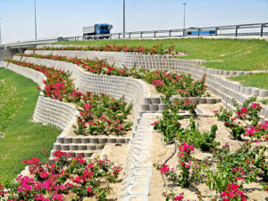 Salwa Doha, Clover Leaf Interchange retaining walls