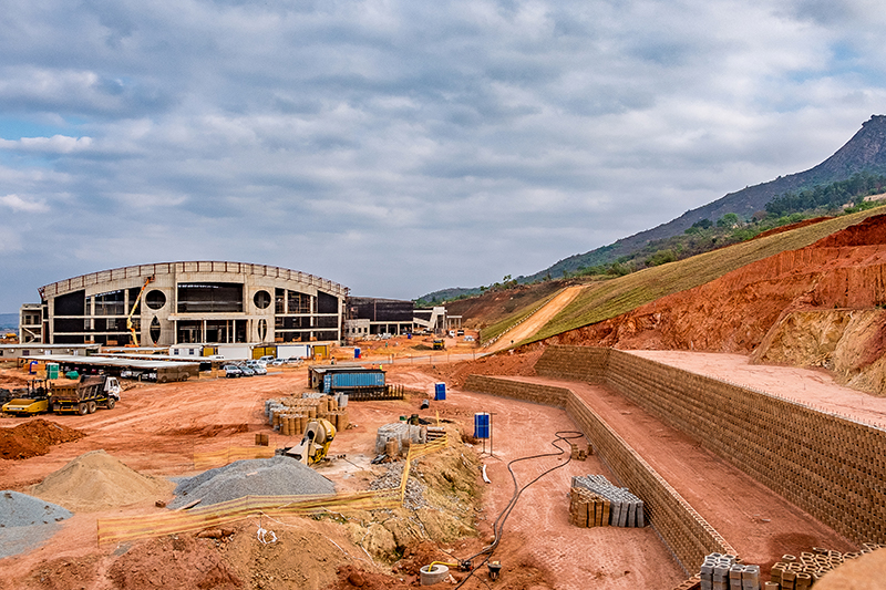 Terraforce wall, International Conference Centre (ICC) and 5 Star Hotel, Swaziland