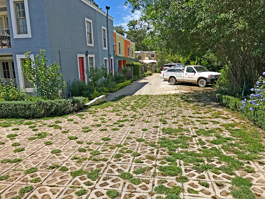 Permeable paver eco-surface, with Terracrete