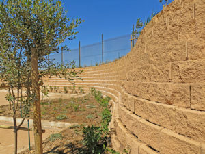 Terraforce retaining walls Reddam House. Decorton Retaining.