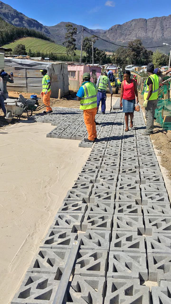 Terracrete blocks are permeable, interlocking, concrete pavers, that encourage water infiltration and prevent rain water runoff