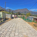 Terracrete eco-surfaces help drain and filter water at Langrug informal settlement, Franschhoek