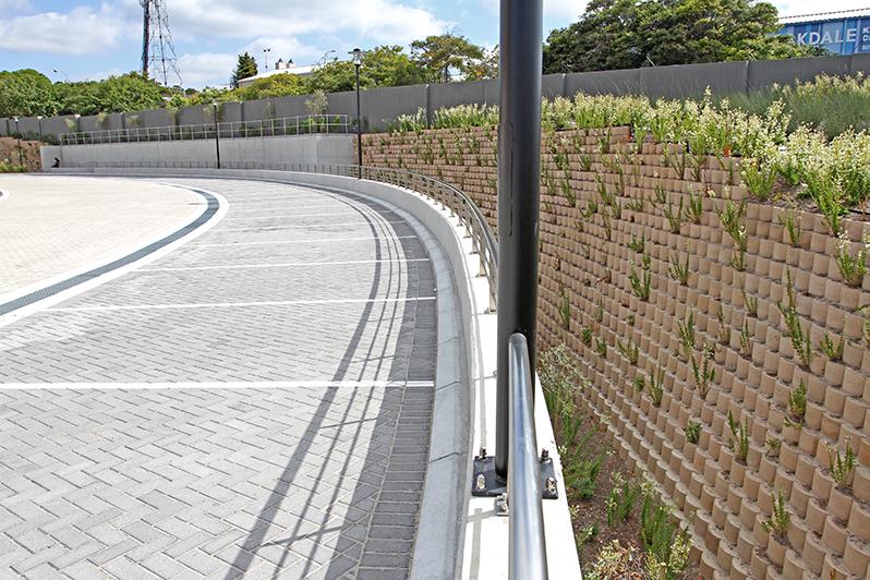 Planting in 2014, pre-drought, Terraforce wall, Terraforce wall