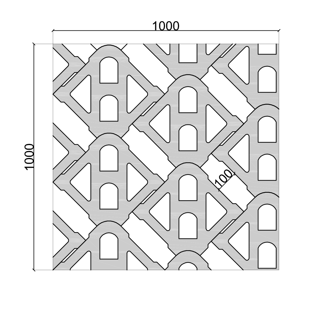 UNIDIRECTIONAL FORMATION (EXTENDED) hardlawn paver