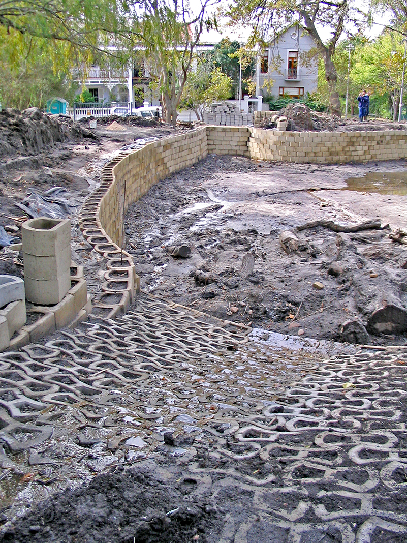 This would ultimately prevent the excavated hole from shrinking (unstable mud from the sides breaking up over time)