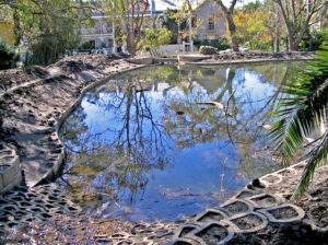 The pond, after completion. Now landscaping and seeding can take place