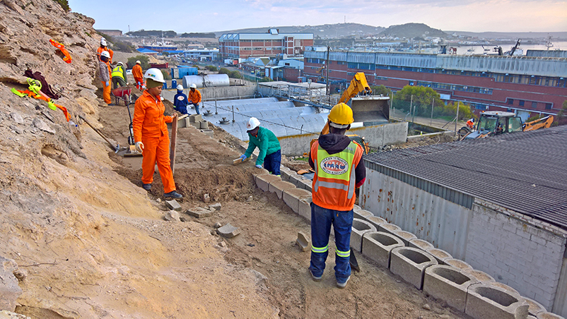 Local labour was used, who received onsite training