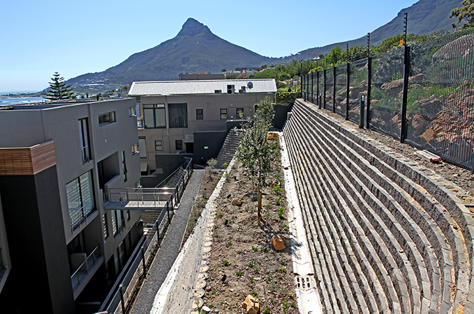 Specialist geotechnical engineering in the construction of Terraforce walls in Bakoven, Cape Town
