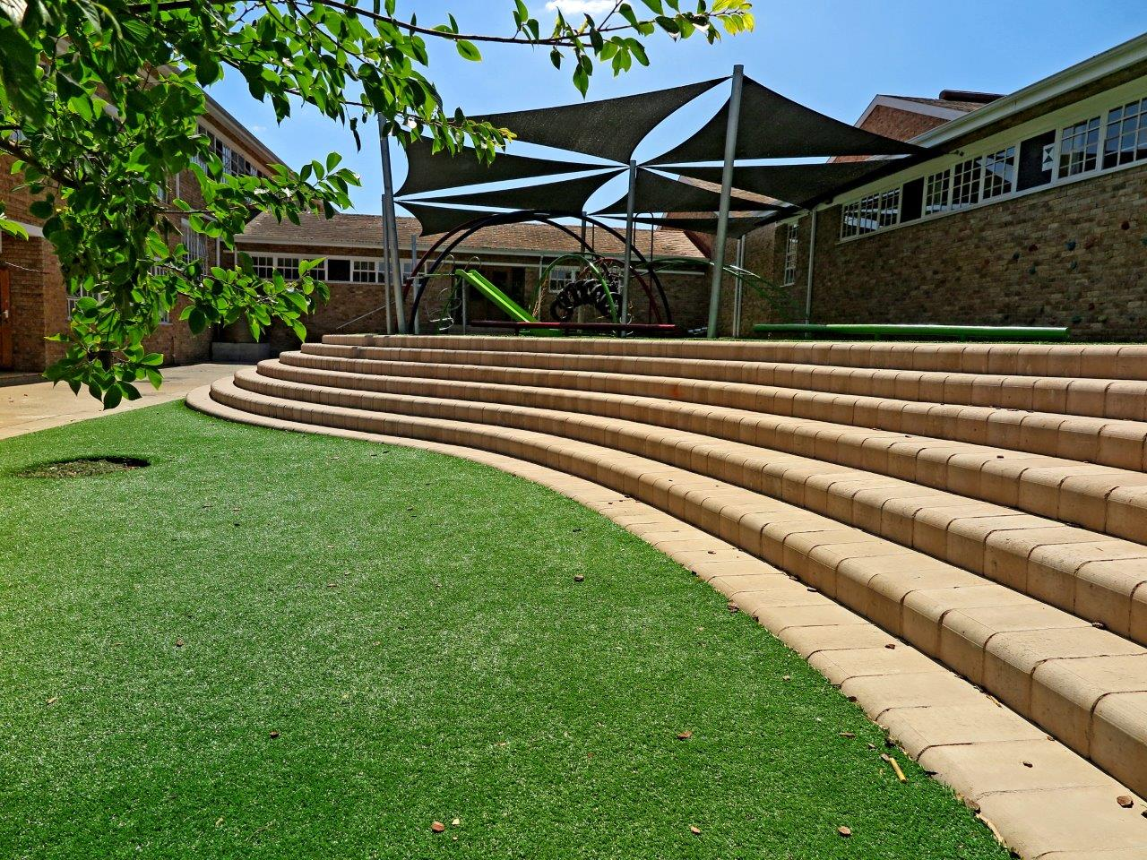 The addition of easigrass for a safe space of play