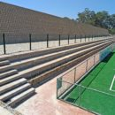 4x4 Step block seating along the new hockey field