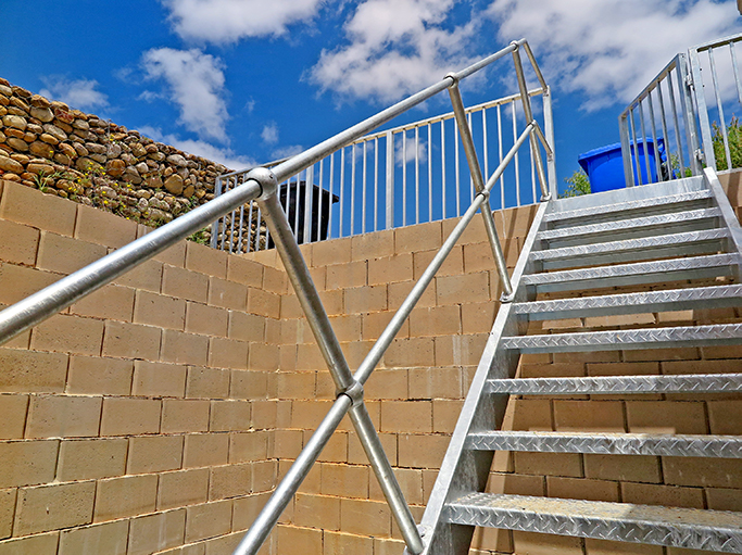 The estate owners chose to stabilise the resulting cut slopes with Terraforce interlocking and hollow core blocks