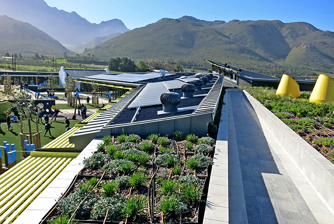Green roof and solar system